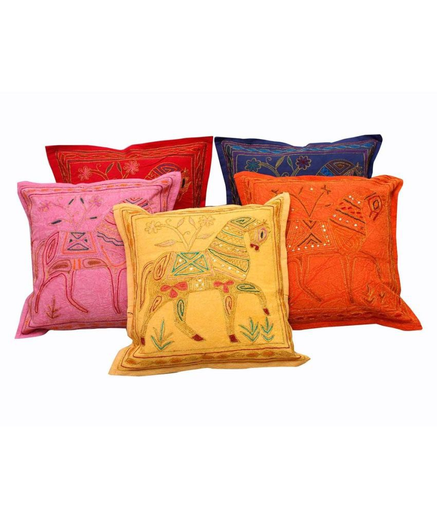 Shilpbazaar Set of 5 Cotton Cushion Covers