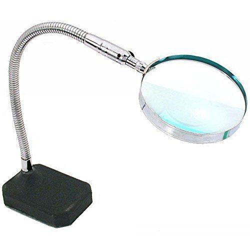 2x Flexible Desktop Magnifier Jewelers Hands Free Tool