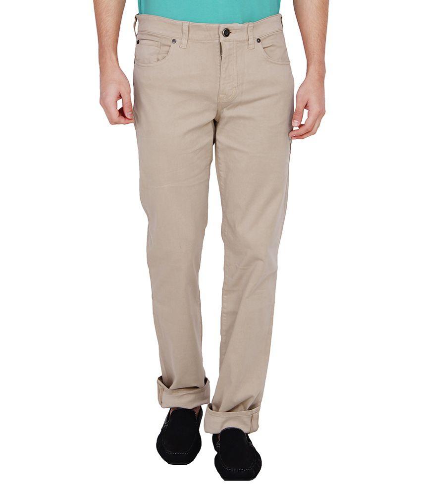 Calvin Klein Beige Relaxed Basic Jeans