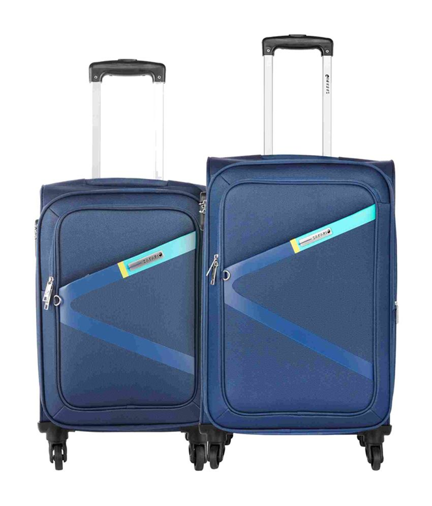 American Tourister PLAY4BLUE SPINNER 55CM TSA BLUE Cabin Luggage – 22 inch