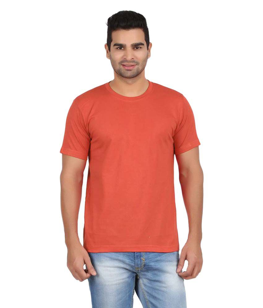 Gallop Orange Round T-Shirt