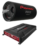 Pioneer TS-WX305T Bass Tube with Pioneer GM-A6704 Amplifier