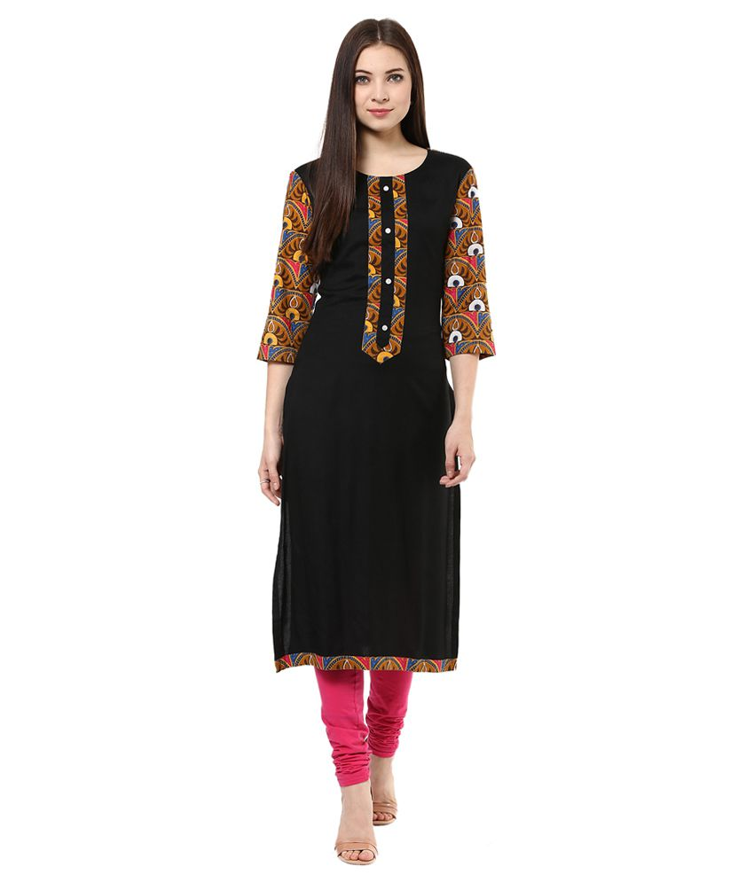 Shakumbhari Brown Cotton Kurti
