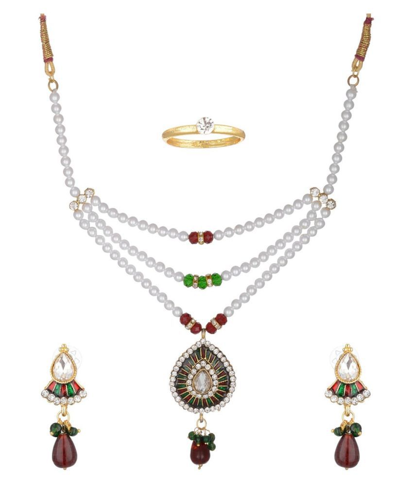 Yoana Multicolour Necklaces Set with Ring