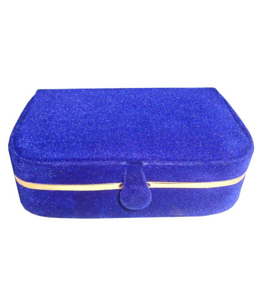 ABHINIDI Blue Wood   Jewellery Box - Pack of 2