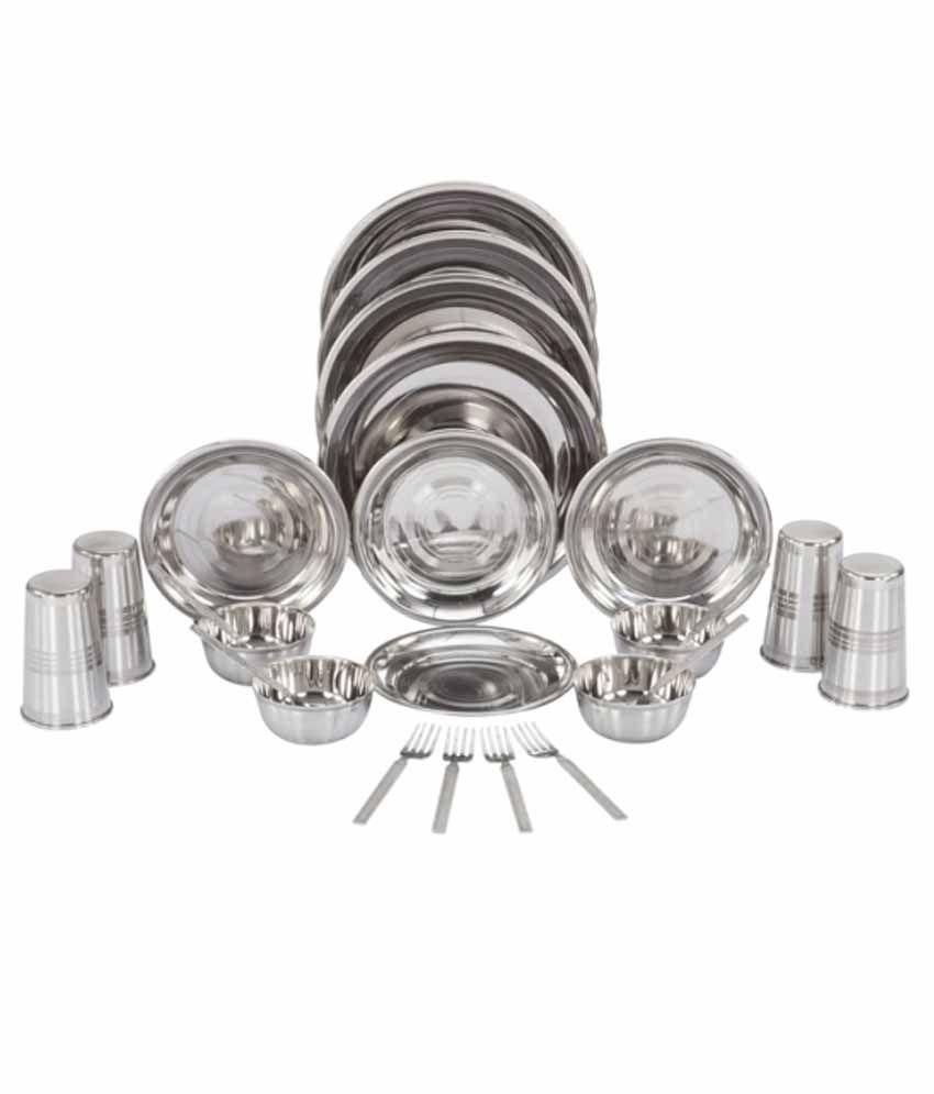 Kitchen Pro Stainless Steel Dinner Set - 24 Pcs