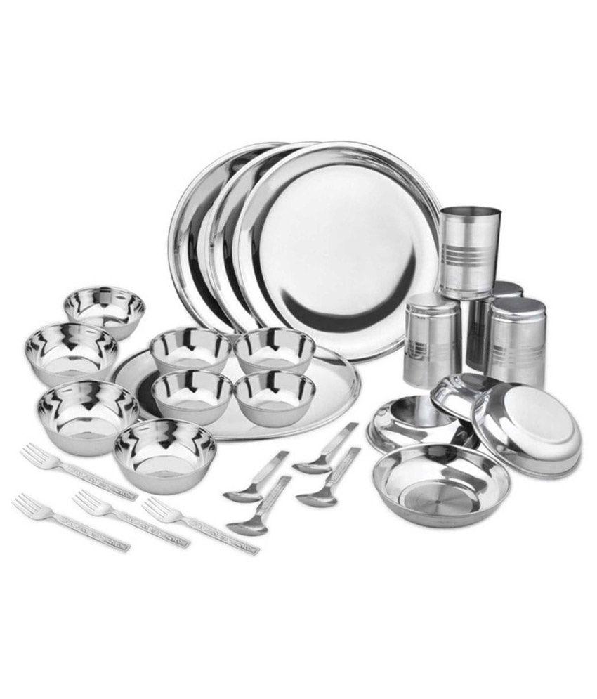 Kpro Stainless Steel Dinner Set - 28 Pcs