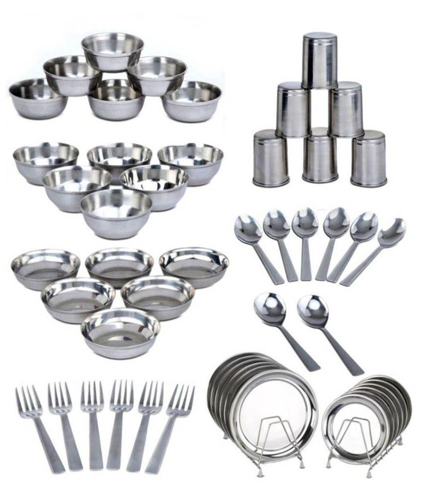 Kpro Stainless Steel Dinner Set - 50 Pcs