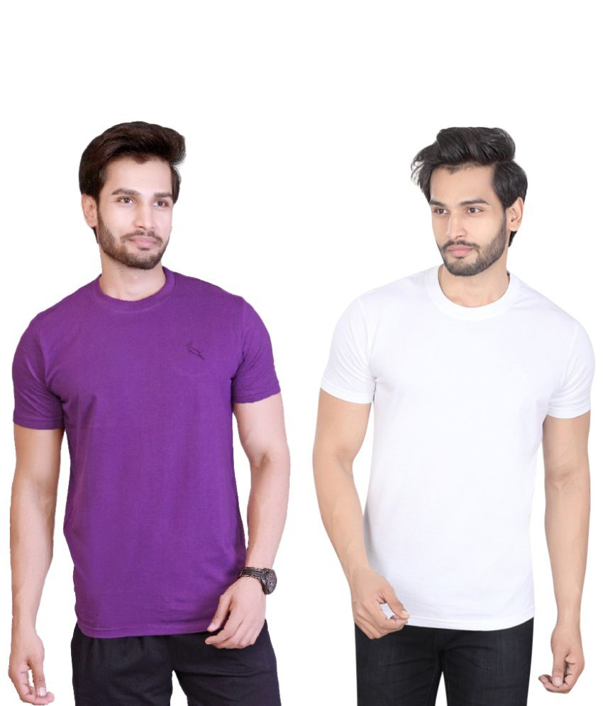 LUCfashion Purple Round T-Shirt