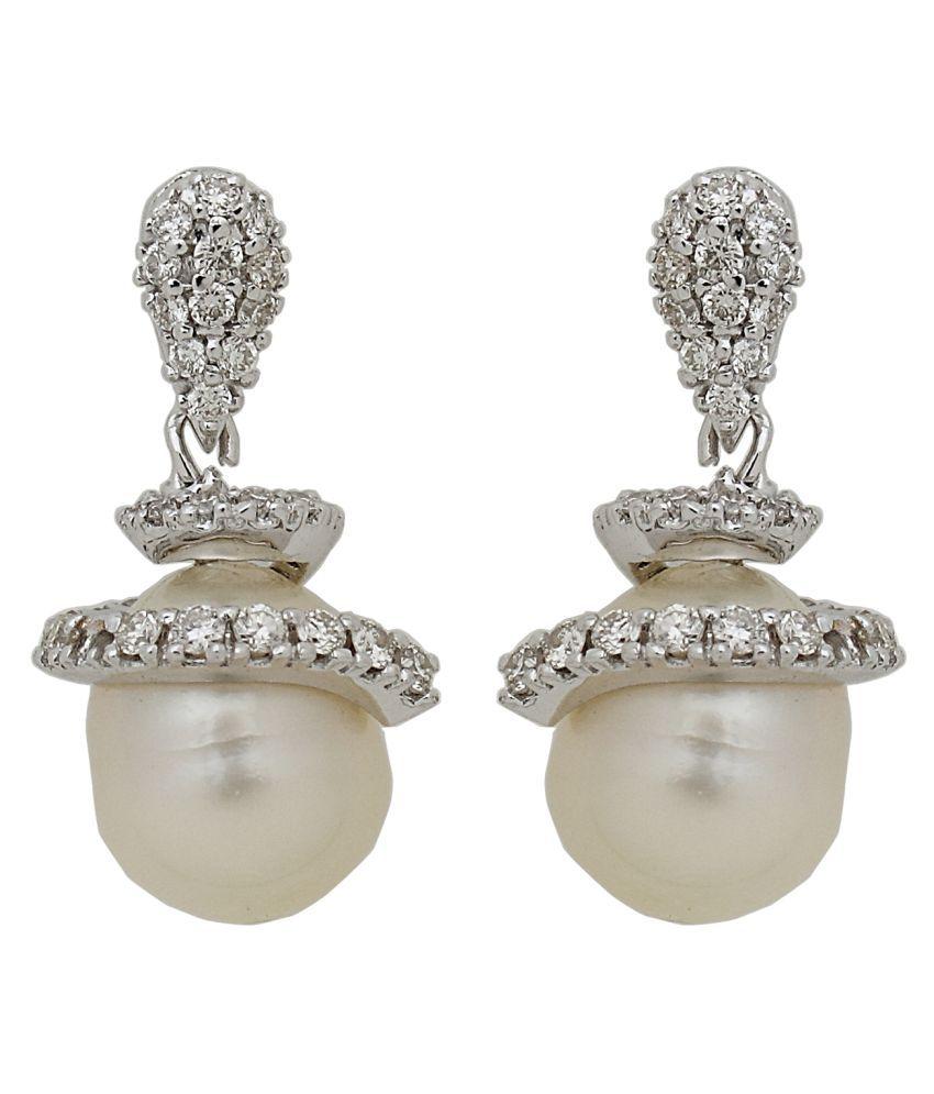 Jewellery Bazaar 18kt Gold Pearl Drops