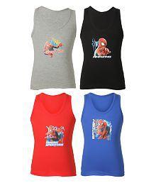 Bodycare Multicolor Cotton Vests - Pack of 4
