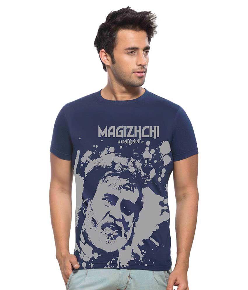 Maniac Navy Graphic printed Kabali T-Shirt - MAGIZHCHI