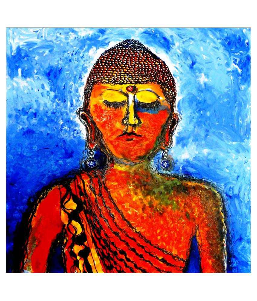 Tallenge Buddha Art Canvas Art Prints With Frame Single Piece