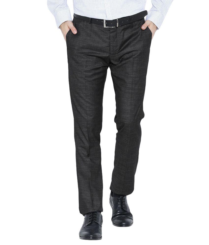 BLACKBERRYS Black Skinny Fit Casual Trousers