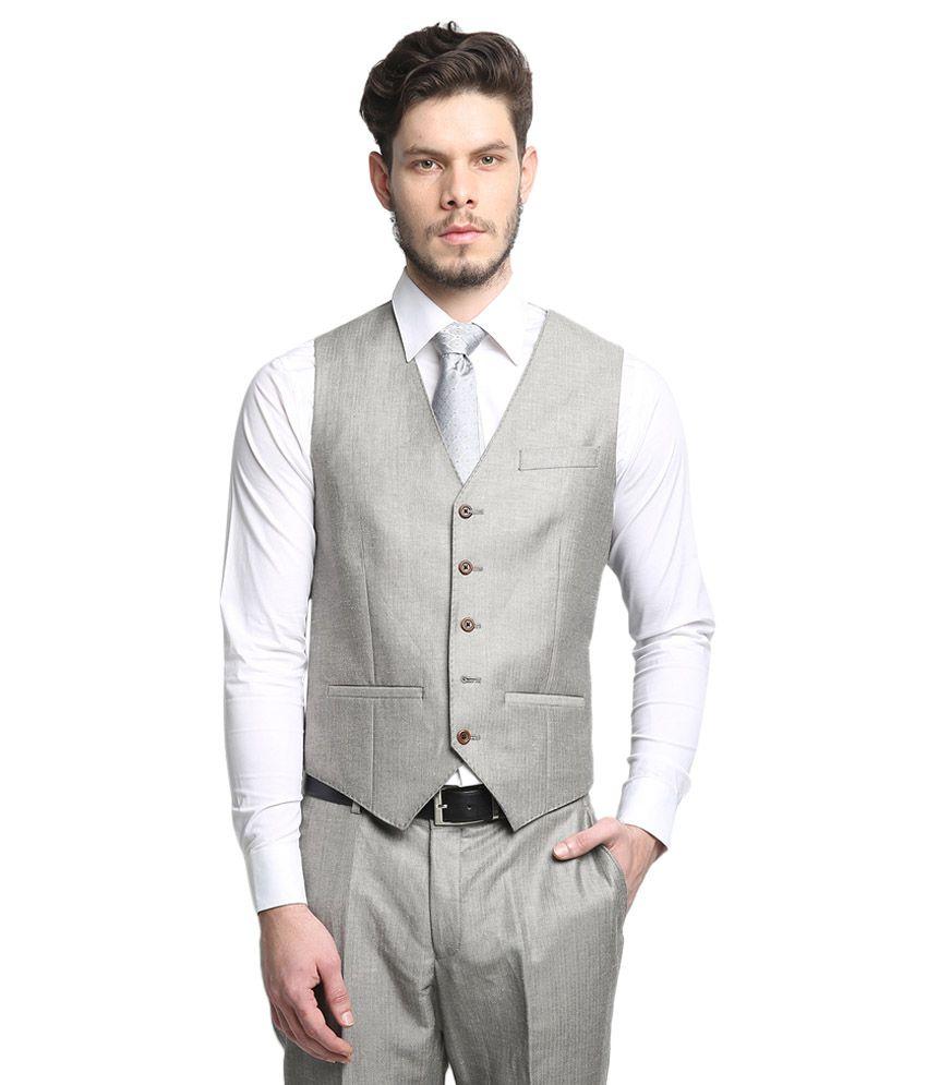 ... BLACKBERRYS Grey Slim Fit Single-Breasted Suit ...