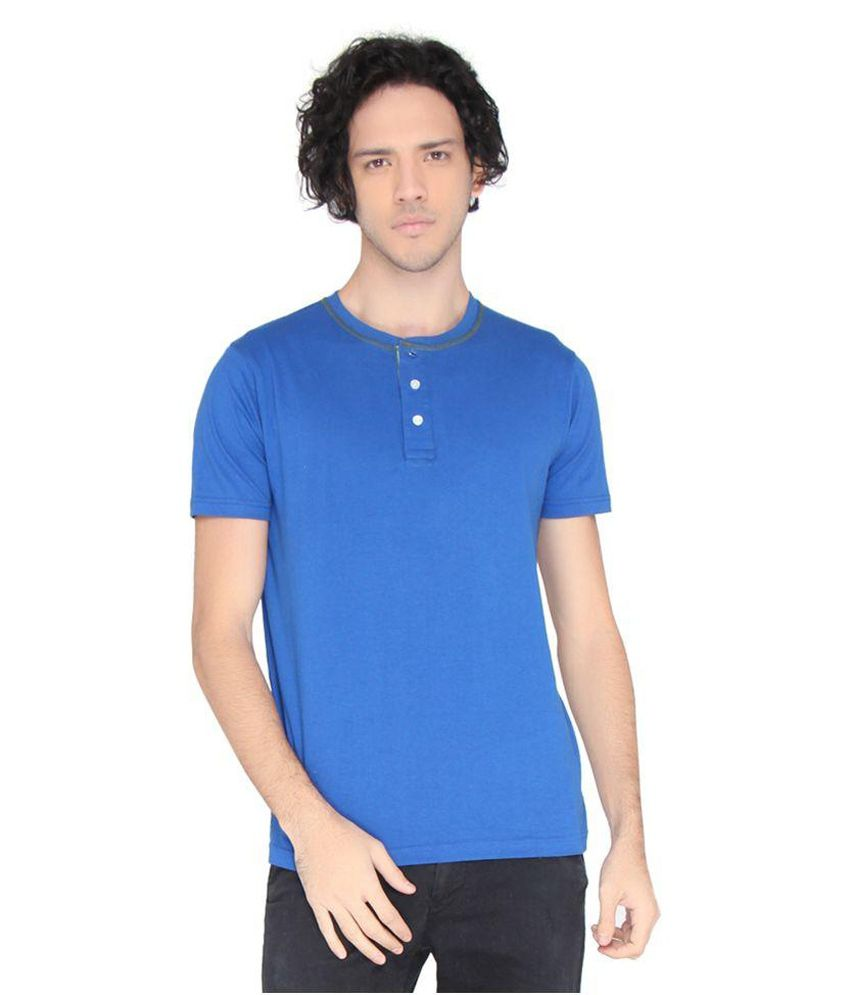 LUCfashion Blue Henley T-Shirt