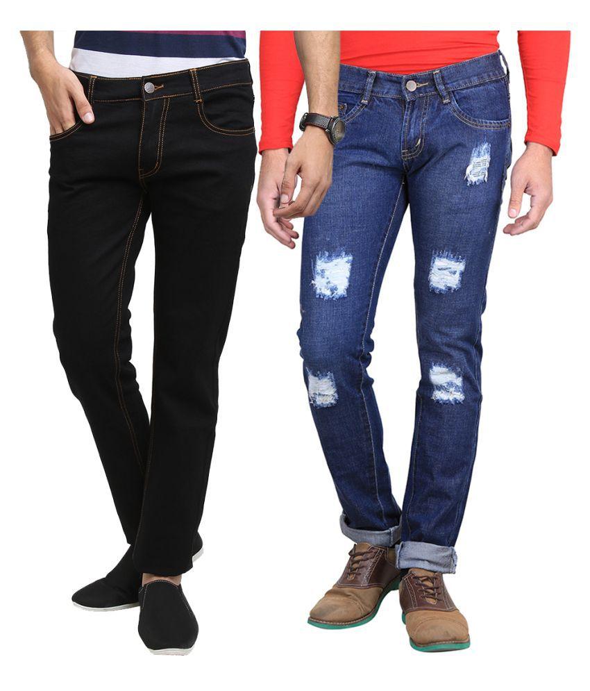 Van Galis Multi Slim Solid Jeans - Pack of 2