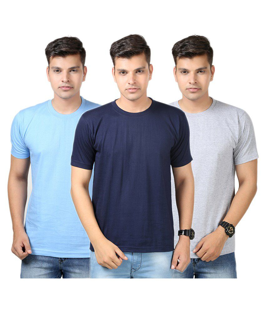 Etoffe Multi Round T-Shirt Pack of 3