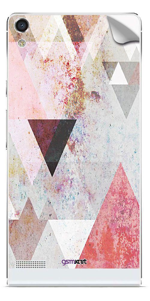 Huawei Ascend P6 Designer Stickers by GsmKart - Multi