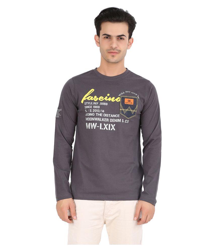 Moonwalker Grey Round T-Shirt
