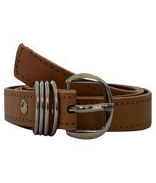 Robb Club Brown Faux Leather Casual Belts