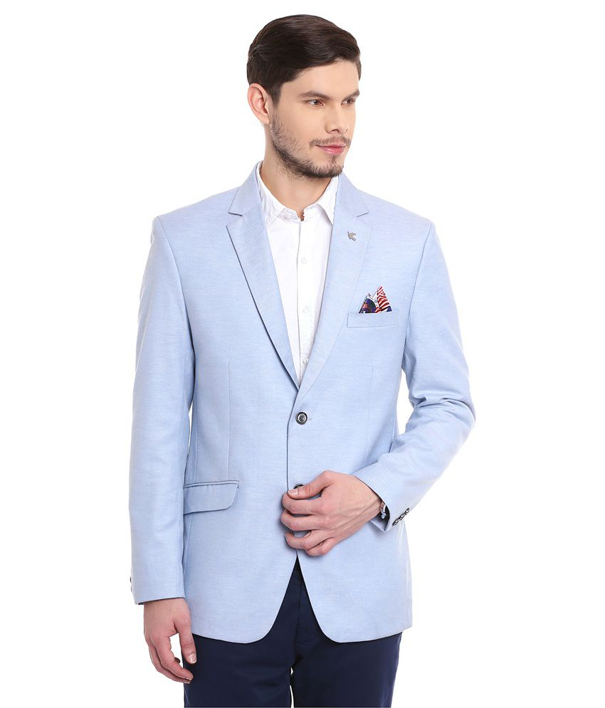Canary London Blue Casual Blazers