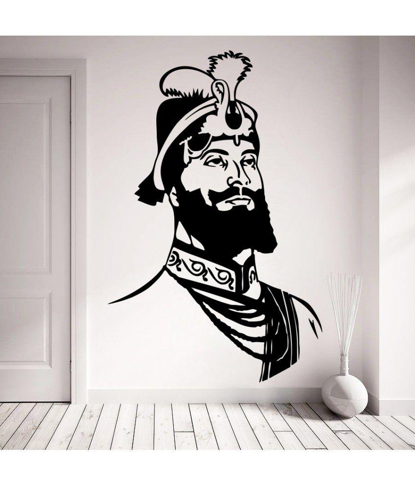 Wallskart Shivaji Artwork Vinyl Wall Stickers Buy