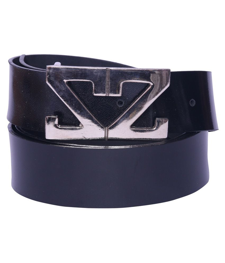 Daller Black Faux Leather Casual Belts