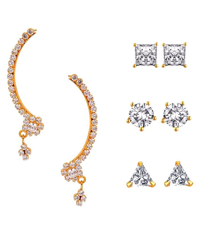 Efulgenz Multicolor Earrings - Pair of 4