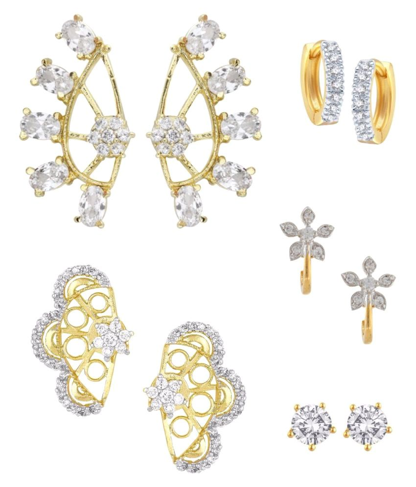 Archi Collection Golden Earrings Combo