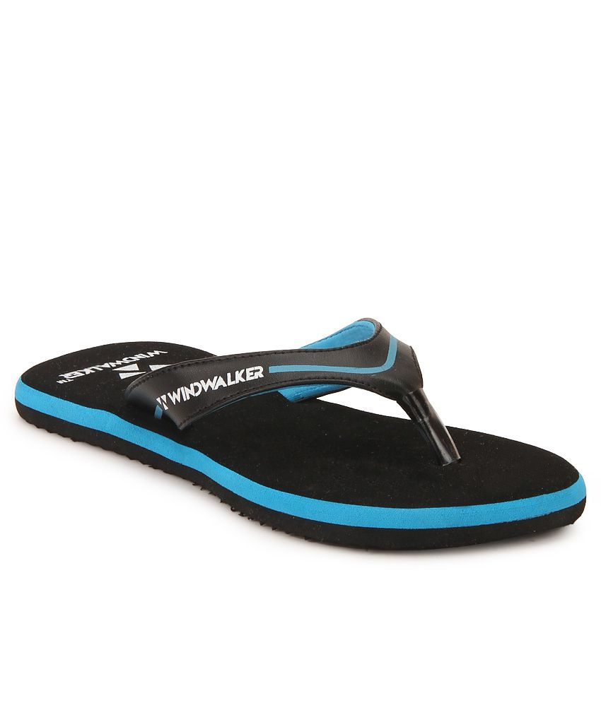 Windwalker Coco Black & Blue Flip Flops