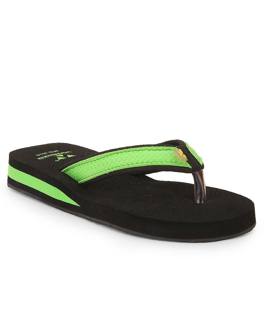 Windwalker Kawai Green & Black Flip Flops