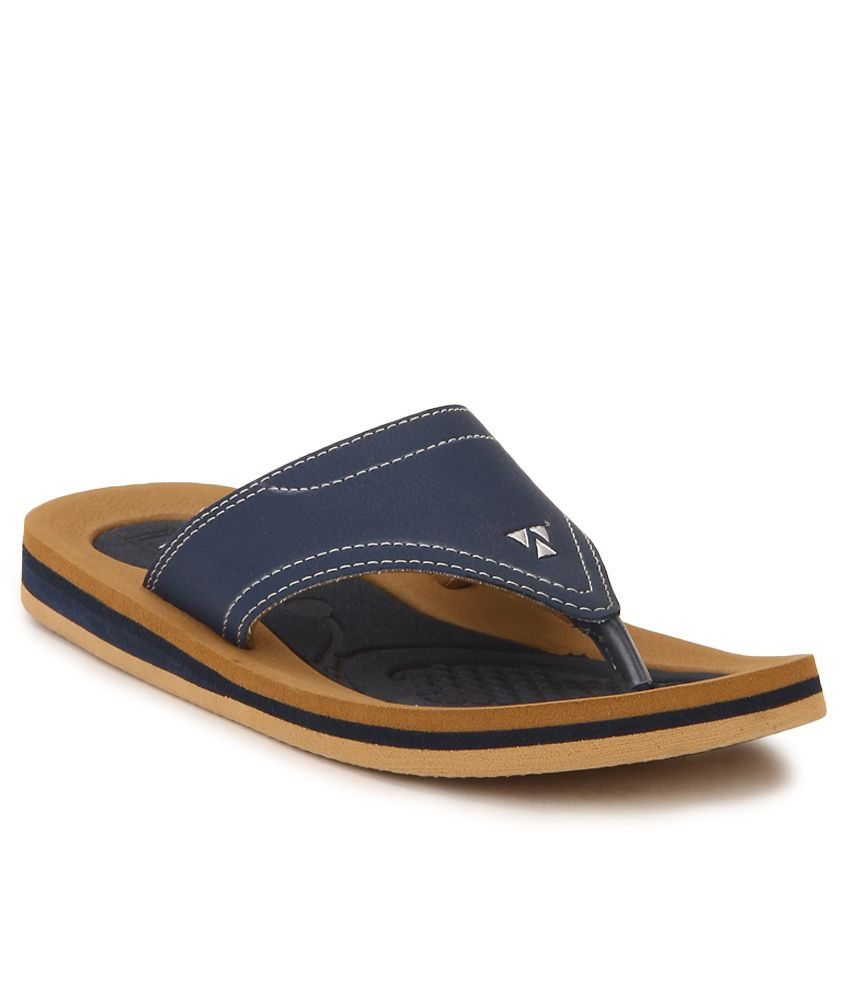 Windwalker Pinho 2 Navy Blue & Brown Slippers