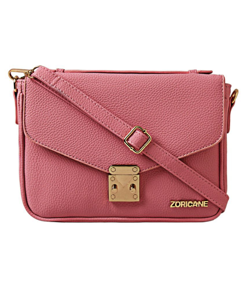 Zoricane Pink Faux Leather Satchel Bag