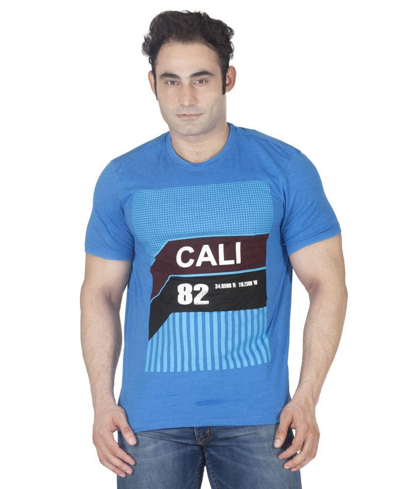 Ishwa Blue Round T-Shirt