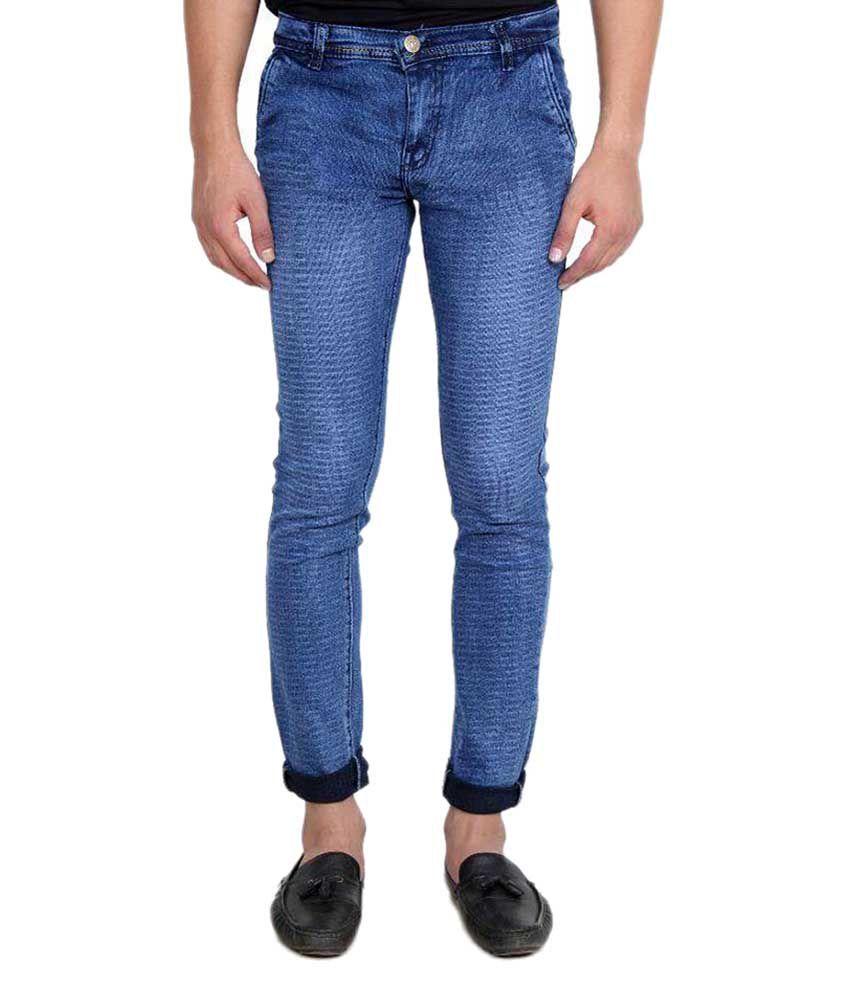 Indo Trendz Blue Slim Washed