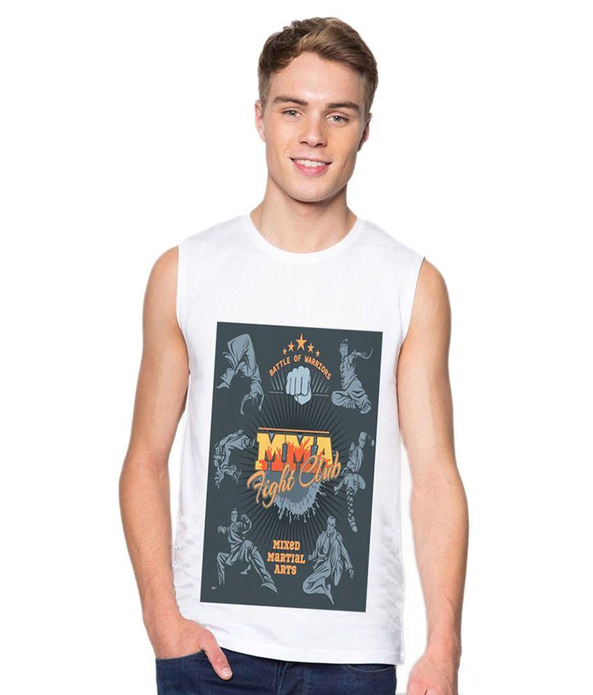 Ba Sport White Round T-Shirt
