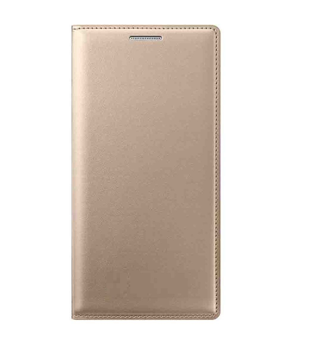 oppo joy 3 flip cover by my style   golden   flip covers