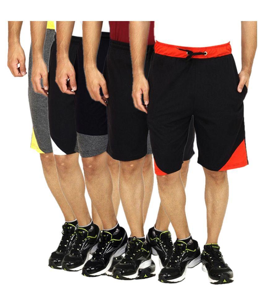 Sanvi Traders Multi Shorts Pack of 5