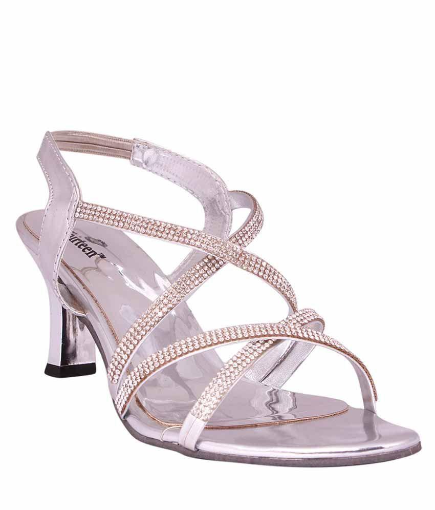 Thirteen Silver Stiletto Heels