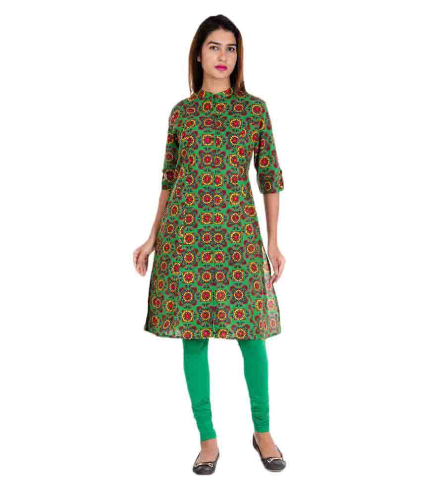 Lila Fashion Multicoloured Cotton Straight Kurti
