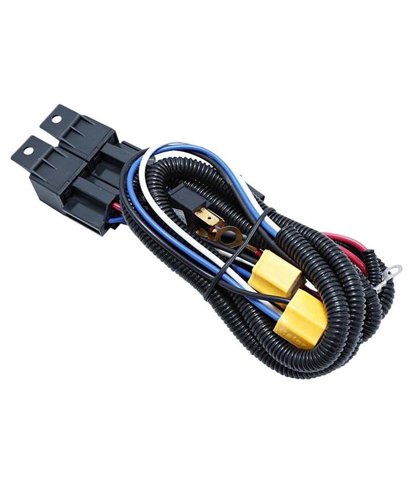 Speedwav Car H4 Headlight Brightener Ceremic Relay Wiring