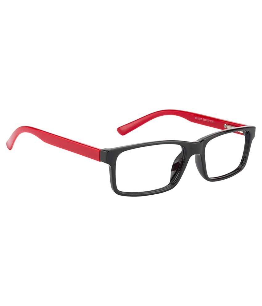 805e35f3262 Glitters Red Rectangle Spectacle Frame WI1507C1-5 - Buy Glitters Red ...