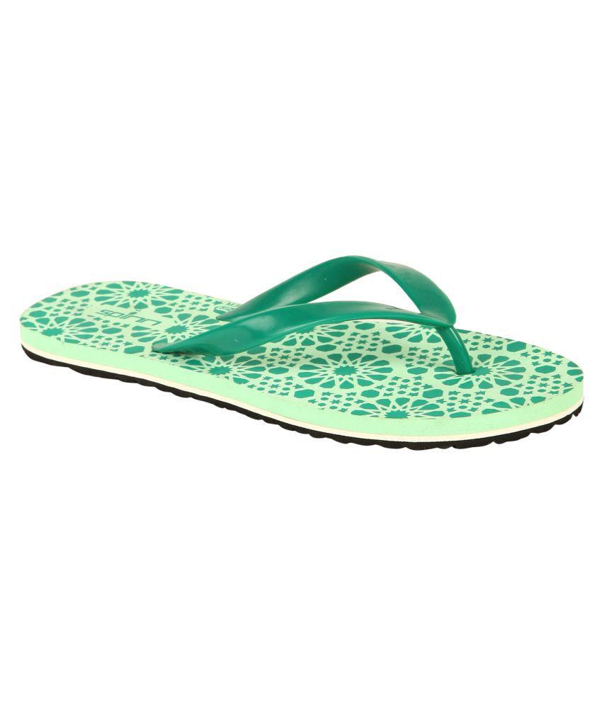 Spinn Green Slippers