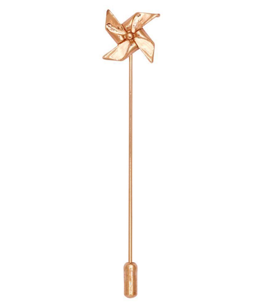 The Tie Hub Golden Metalic Lapel Pin For Men