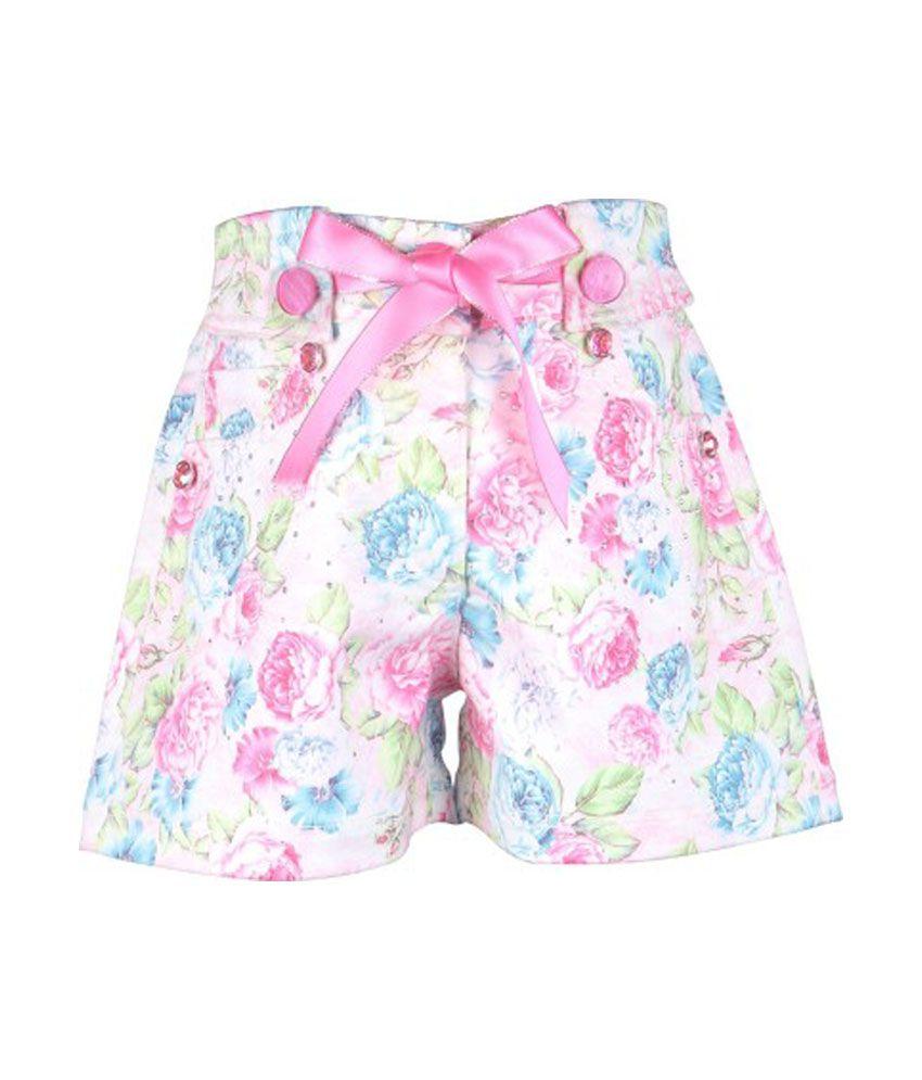 Cutecumber Multicolor Polyester Shorts