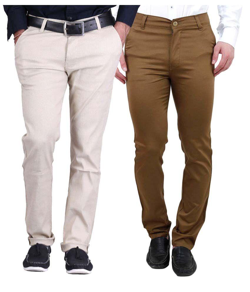 Ansh Fashion Wear Multicolored Regular Flat - Pack of 2
