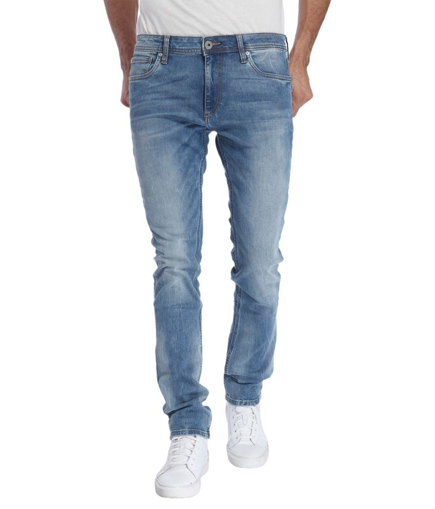 Jack & Jones Blue Slim Washed
