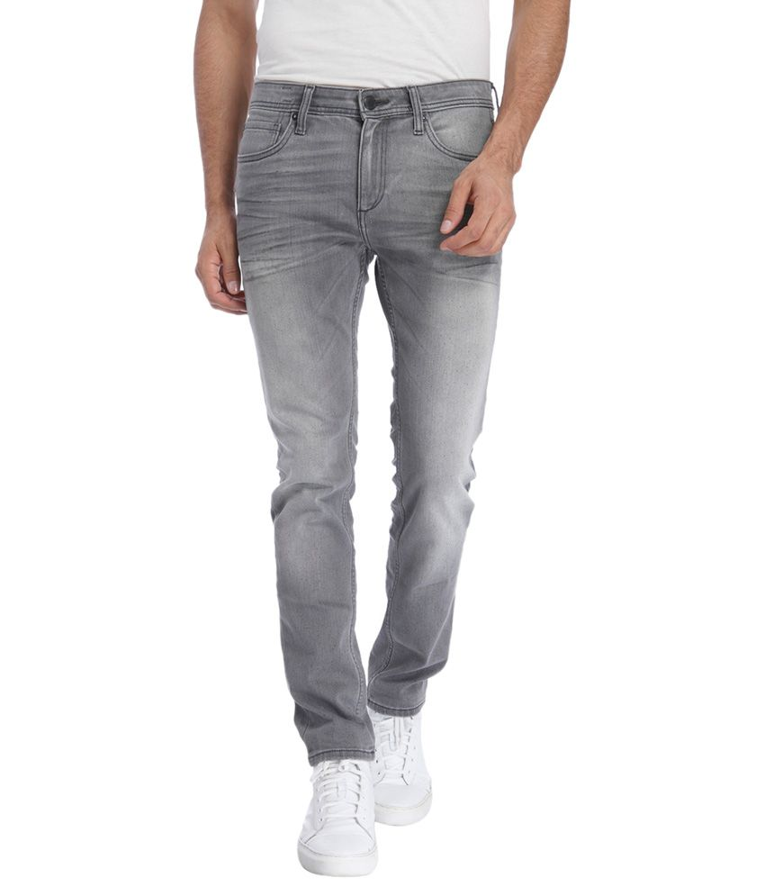 Jack & Jones Grey Slim Washed