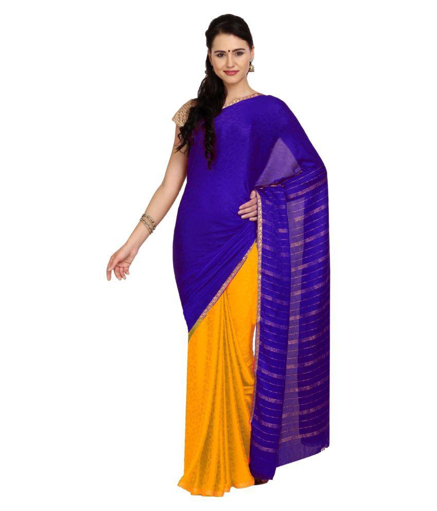 Aryahi Multicoloured Chiffon Saree